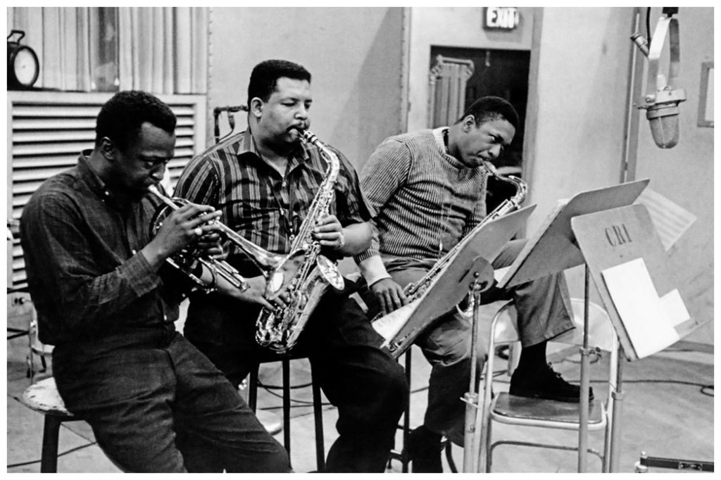 dennis-stockmagnum-photos-1958-miles-davisleft-cannonball-adderley-and-john-coltrane-right